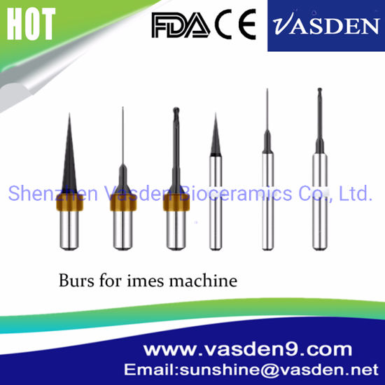 Dental Burs Compliant with VHF/Wieland/Arum/Imes-Icore/Roland