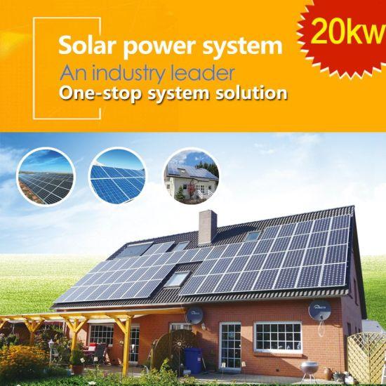 20kw on-Grid Home Solar Power System Solar Power Solar Household Solar Power System PV System