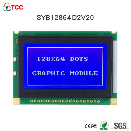 3.3V/5V 128X64 Graphic Module LED Backlight 20 Pin 128*64 LCD Display