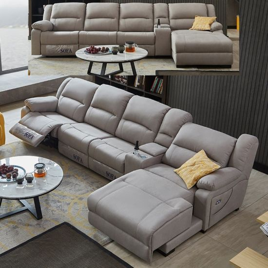 Heated Leather Sofa Modern