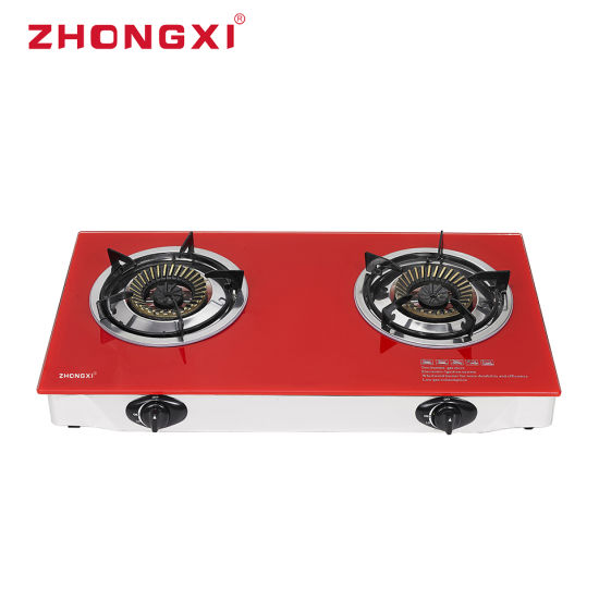 2 Burner Kitchen Use Table Top Cooker Gas Stove (JZ-X202b)