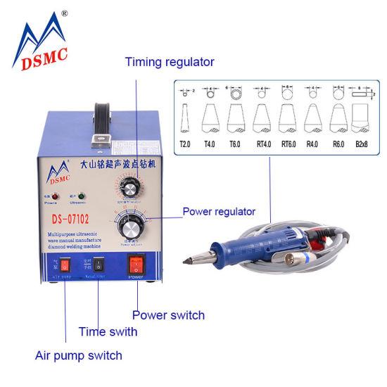 Ds 07102 Ultrasonic Hot Fix Rhinestone Machine Strass Appllicator