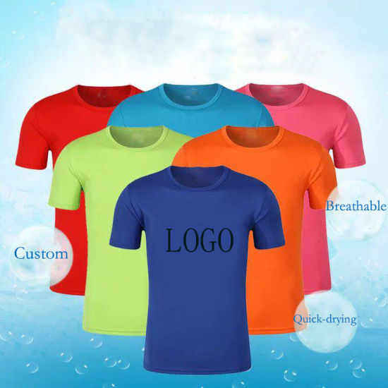Bulk Wholesale Plain Quick Dry Fit Sport Wear Men Gym Tshirt, Custom Printing Blank White Cotton Mens T Shirt