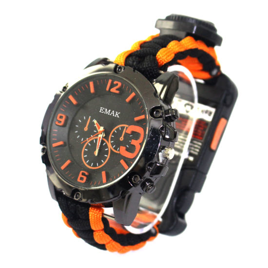 Outdoor Hand-Made Promotion Paracord Survival Watch Lanyard for Hunting