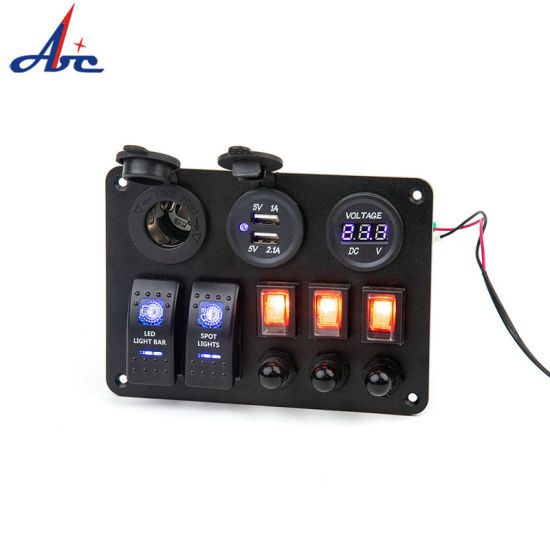 Carling on-off 5 Gang Marine Switch Panel for Boat Truck