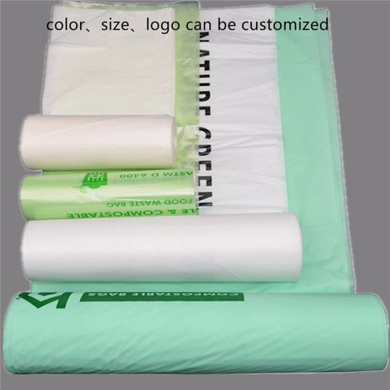 100% Biodegradable and Compostable Pbat PLA Cornstarch Plastic Garbage Bags pictures & photos