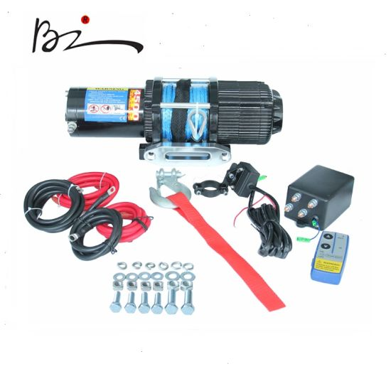 ATV DC 12V off-Road Electric Winch with Synthetic Rope (4500lb)