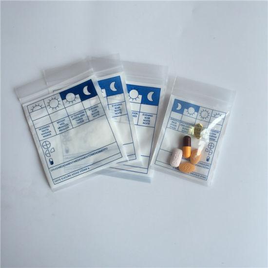 Wholesale LDPE Writable Dispensing Medicine Envelope/Printed Medical Zip Lock Bag