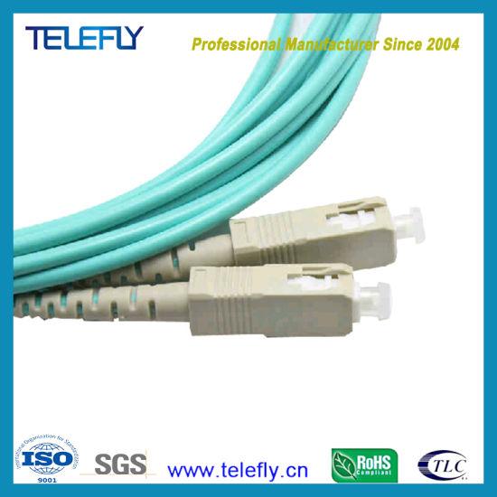 3 Meters LC to SC 50//125 Duplex Multi-Mode Fiber Patch Cord Jumper Cable LC-SC