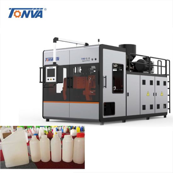 5 Liter Four Layers Plastic Pesticide Bottle Blowing Machine Extrusion Blow Moulding Machine