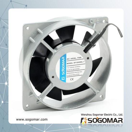 Sf12038 Silver Cooling Ventilation Plastic Blades AC Axial Fan for Duct