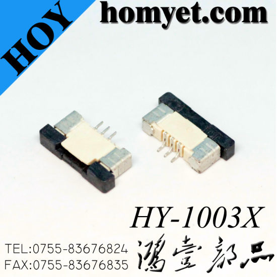 1.0mm 3p FPC/FFC Connector Flat Cable Connector pictures & photos