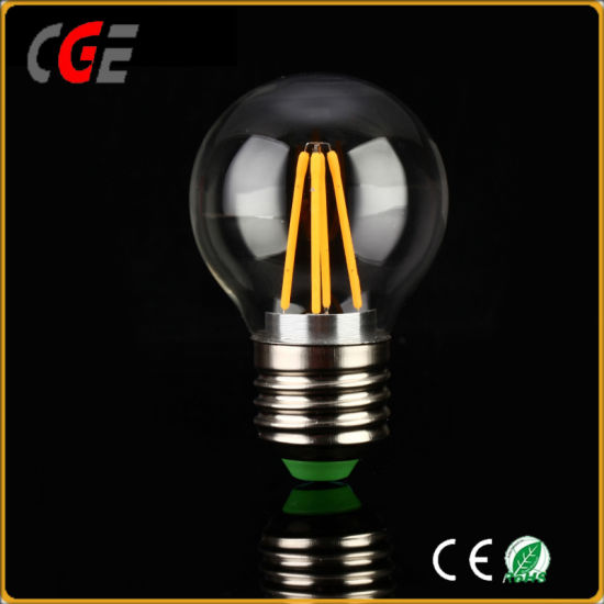 LED Bulb A60/G45 E27/E26/B22 Clear Amber Vintage Light Dimmable LED Filament Bulb LED Light Distributor Lighting Bulb pictures & photos
