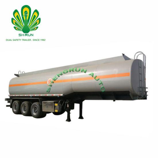 China 3 Axles 35000-50000 Liters Fuel Tank Tanker Truck Trailer