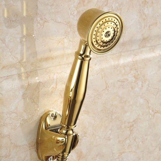 bathtub faucet with handheld shower head. FLG Gold Plated Bathtub Faucet With Hand Shower Set China