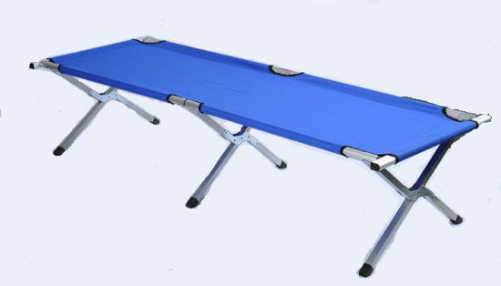 Blue Aluminum Military Camping Folding Bed (ET-CHO116)