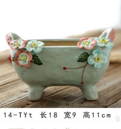 Wholesale Eco-Friendly European style Handcraft Ceramic Garden Flower Pot