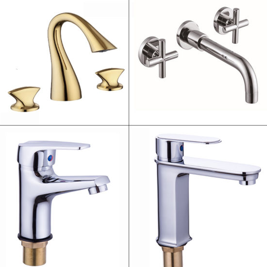 Single Hole Single Level Handle Square Basin Sink Tap Bathroom Water Tap pictures & photos