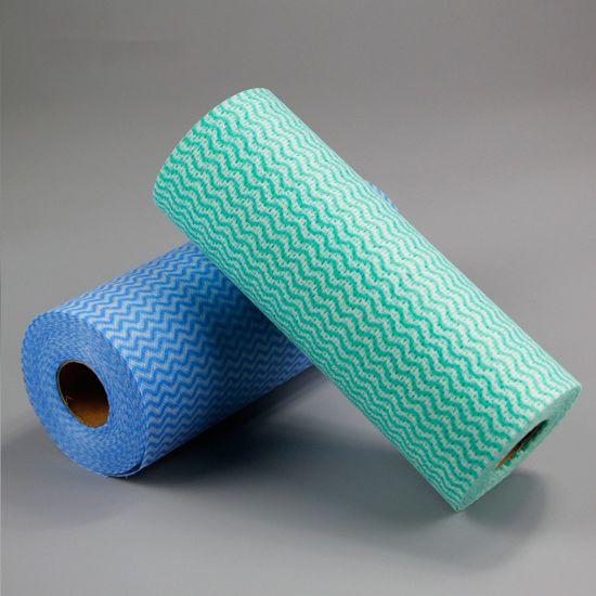 Disposable All Purpose Viscose Polyester Nonwoven Car Interior Exterior Nonwoven Cleaning Cloth