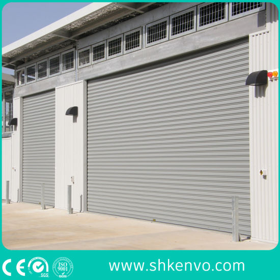 China Industrial Automatic Galvanized, Commercial Steel Roll Up Garage Doors