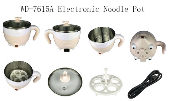 Hot Seller 1.5L Pink Mini Multifunction Stainless Steel Electric Cooking Pot