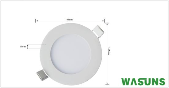 9W Round Shape Recessed LED Ceiling Panels pictures & photos