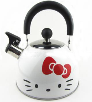Carton Painting Stainless Steel Whistling Kettle Skw007