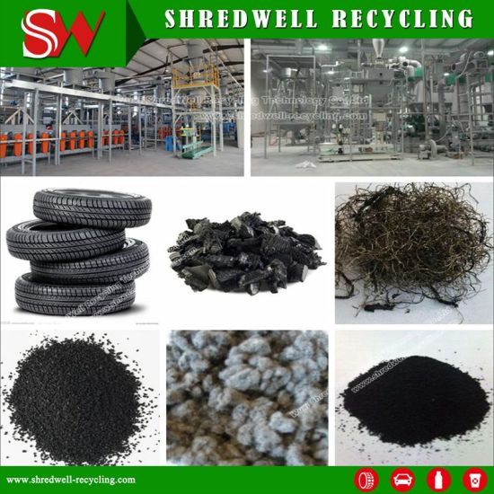 Shredwell Waste Tyre Recycling Machine with Scrap Tire Shredder/Rasper/Rubber Granulator pictures & photos