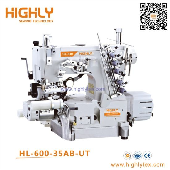 China Pegasus Type Cylinder Bed Interlock Sewing Machine With Left Side Cutter And Puller China Underwear Stretch Sewing Machine Rolled Edge Sewing Machine