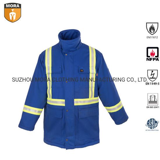 Flame Resistance Clothing Uniform Work Wear Fr Reflective Bib Overalls