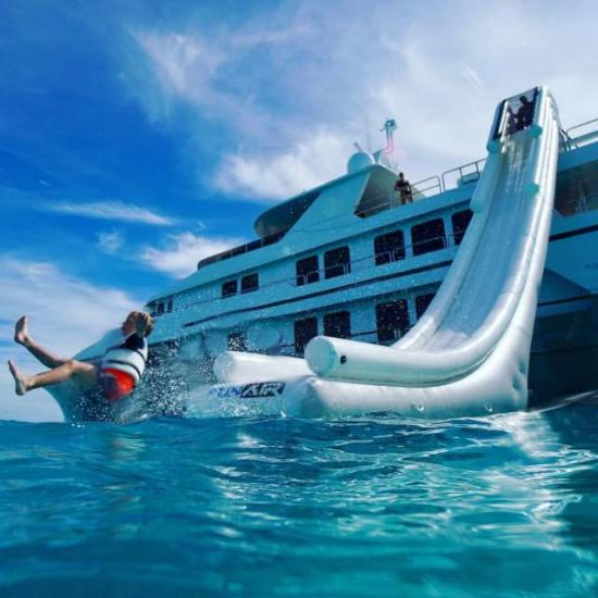 Inflatable Dock Water Screming Slide for Boat Yacht pictures & photos
