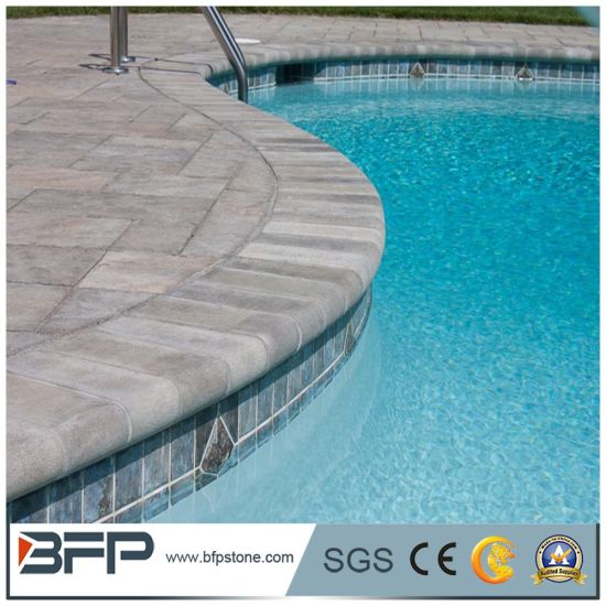 China Chamfered Coping Stones Inground Pool Coping Pavers - China ...