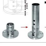 Handrail Fittings, Stair Fittings Stainless Steel Fittings Connector Flange Decorative Flange Fixed Seat Casting Parts