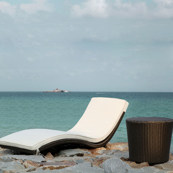 Hot Sale Swimming Pool Beach Rattan Leisure Chairs Lounge Sunbed Beach Deck  Chair