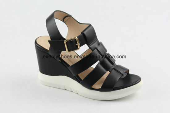 New Arrival Elegant Fashion Wedge Sandal Lady Shoes pictures & photos