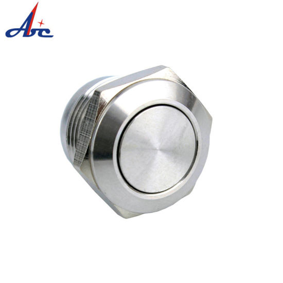 12mm Metal Waterproof Anti-Vandal Brass Stainless Steel Push Button Switch with Short Length