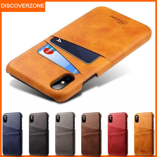 China Factory PU Leather Mobile/Cell Phone Case Card Slot Phone Cover