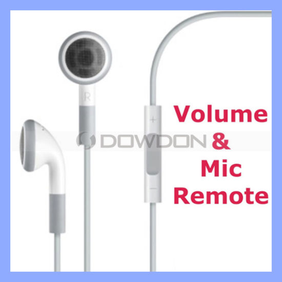 Earphone for iPhone 4 4s iPad iPod with Mic Remote and Volume Control Headset Headphone