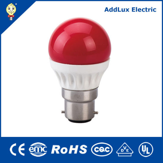 Saso Ce UL Mini Global 3W E27 Red Green Blue Yellow LED Bulb Light G45 Made in China for Decorative Home & Business Indoor Lighting From Distributor Factory