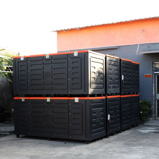 Exhibition Stand Cases : China large plastic shipping cases with wheels for exhibition booth