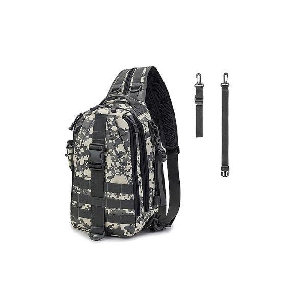 Fishing Tackle Backpack Storage Bag Waterproof Outdoor Shoulder Backpack Fishing Gear Bag with Rod Holder Cross Body Sling Bag
