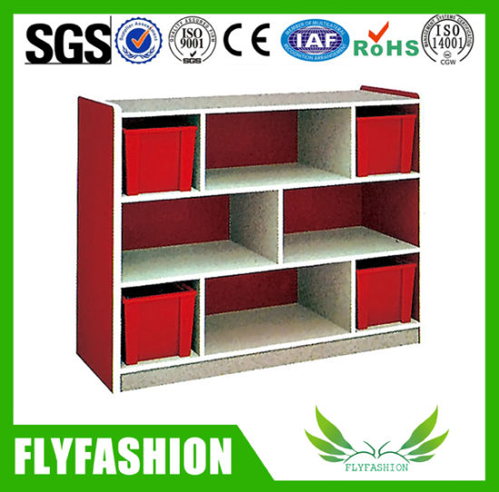 High Quality Kids Storage Cabinet with Plastic Boxes (SF-118C)