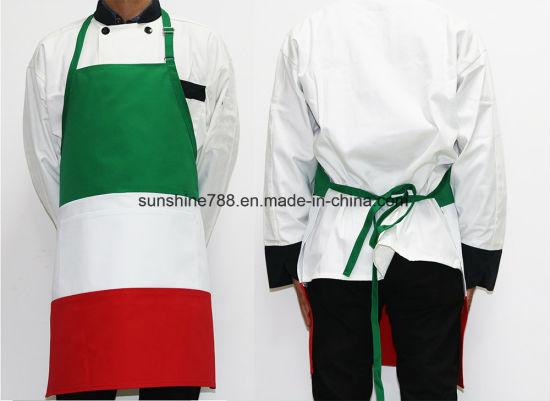 High Quality Flag Cooking Chef Bib Apron Adjustable Neck Strap