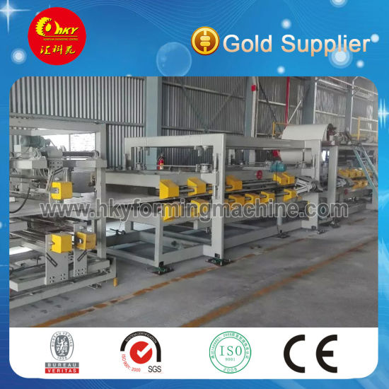 Hky Roof and Wall Sandwich Panel Roll Forming Machine Production Line
