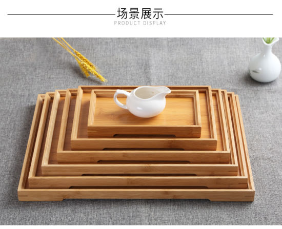 Bamboo Tray and Bamboo Waiter Plate for Kitchenware and Salvor From Factory Cheap Price pictures & photos