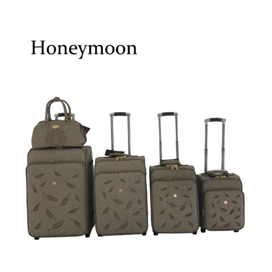 5PCS Set PU Leather Trolley Case with Kit (JB4012) pictures & photos
