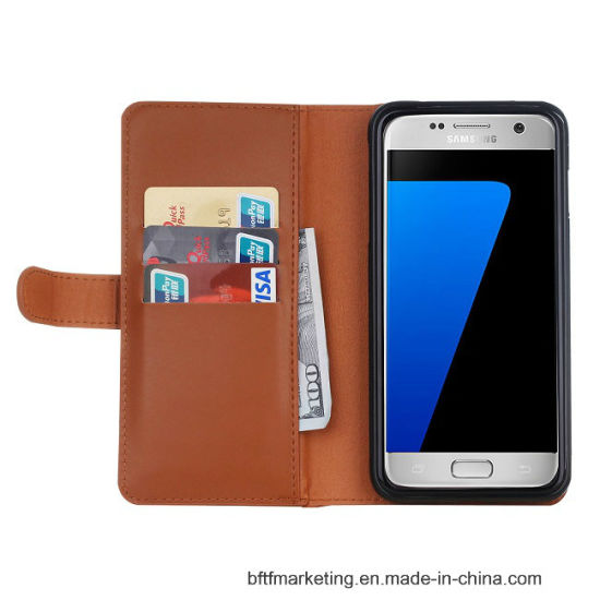 Wallet Leather Mobile Cell Phone Case for Samsung pictures & photos