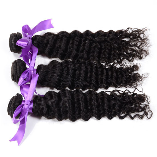 Best Quality Natural Black Italian Wave Human Hair Weave Extension