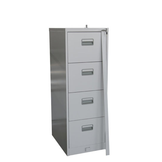 Office Furniture 4 Drawer Steel Filing Cabinet With Steel Bar