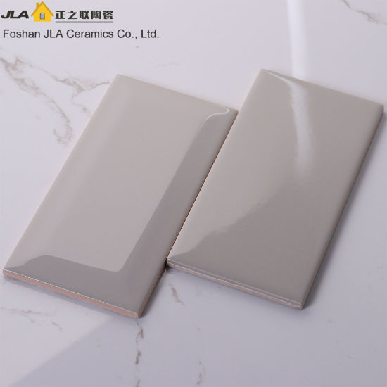 3X6inch/7.5X15cm Light Grey Glazed Ceramic Wall Subway Tile Building Material pictures & photos